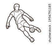 gaelic football male player... | Shutterstock .eps vector #1956791185