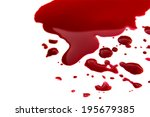blood stains  puddle  isolated... | Shutterstock . vector #195679385
