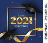 graduation class of 2021 with...   Shutterstock .eps vector #1956804502