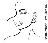trendy fashion contour drawing... | Shutterstock .eps vector #1956805102