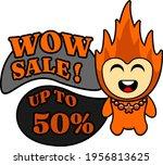 cartoon character illustration... | Shutterstock .eps vector #1956813625