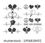 pickleball heartbeat  peace...   Shutterstock .eps vector #1956818452