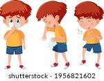 set of a boy cartoon character... | Shutterstock .eps vector #1956821602