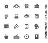 school icons  vector. | Shutterstock .eps vector #195683708