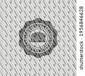 cheeseburger icon inside silver ... | Shutterstock .eps vector #1956846628