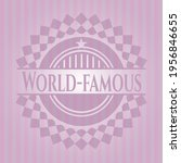 world famous pink icon or... | Shutterstock .eps vector #1956846655