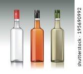 set of vodka bottles.vector... | Shutterstock .eps vector #195690992