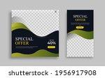 creative modern set sosial...   Shutterstock .eps vector #1956917908