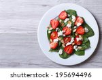 Salad Of Spinach  Strawberries...