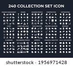 240 modern thin line icons....