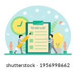 2 men consulting each other...   Shutterstock .eps vector #1956998662