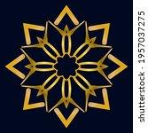 cute gold mandala. ornamental... | Shutterstock .eps vector #1957037275