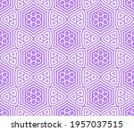 abstract fantasy striped thin... | Shutterstock .eps vector #1957037515