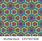 abstract colorful doodle flower ... | Shutterstock .eps vector #1957037608