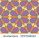 abstract colorful doodle flower ... | Shutterstock .eps vector #1957038262