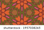 abstract colorful doodle flower ... | Shutterstock .eps vector #1957038265