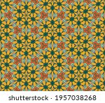 abstract colorful doodle flower ... | Shutterstock .eps vector #1957038268
