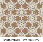 abstract colorful doodle flower ... | Shutterstock .eps vector #1957038292