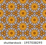 abstract colorful doodle flower ... | Shutterstock .eps vector #1957038295