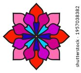 cute mandala. ornamental round... | Shutterstock .eps vector #1957038382