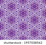 abstract colorful doodle flower ... | Shutterstock .eps vector #1957038562