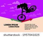 active man. bmx rider in... | Shutterstock .eps vector #1957041025