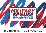 military spouse appreciation... | Shutterstock .eps vector #1957042402