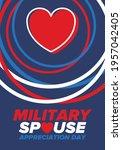 military spouse appreciation... | Shutterstock .eps vector #1957042405