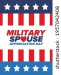 military spouse appreciation... | Shutterstock .eps vector #1957042408