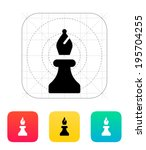 chess bishop icon. vector...
