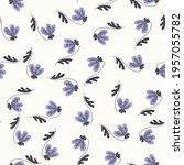 seamless floral pattern based... | Shutterstock .eps vector #1957055782