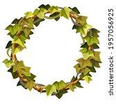 ivy frame. wreath liana...   Shutterstock .eps vector #1957056925