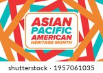 asian pacific american heritage ... | Shutterstock .eps vector #1957061035