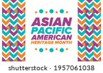 asian pacific american heritage ... | Shutterstock .eps vector #1957061038