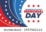memorial day in united states.... | Shutterstock .eps vector #1957062112