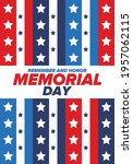 memorial day in united states.... | Shutterstock .eps vector #1957062115