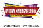 national kindergarten day... | Shutterstock .eps vector #1957067332