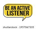 be an active listener speech... | Shutterstock .eps vector #1957067335