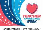 teacher appreciation week in... | Shutterstock .eps vector #1957068322