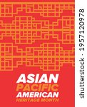 asian pacific american heritage ... | Shutterstock .eps vector #1957120978