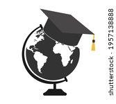 illustration of student hat... | Shutterstock .eps vector #1957138888