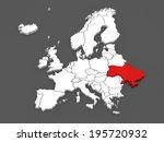 map of europe and ukraine. 3d | Shutterstock . vector #195720932