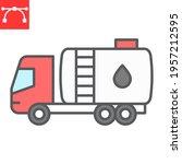 oil tanker truck color line... | Shutterstock .eps vector #1957212595