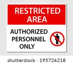 authorized personnel only... | Shutterstock .eps vector #195726218