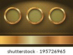 the golden rings on the dotted... | Shutterstock .eps vector #195726965
