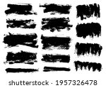 brush strokes bundle. vector... | Shutterstock .eps vector #1957326478