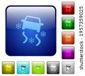 snowy road dashboard indicator... | Shutterstock .eps vector #1957359025