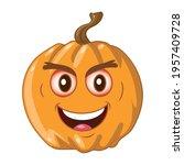 orange pumpkin on white... | Shutterstock .eps vector #1957409728