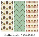 ethnic patterns collection.... | Shutterstock .eps vector #195741446