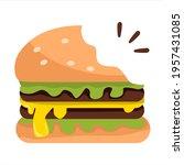 vector illustration of bitten... | Shutterstock .eps vector #1957431085